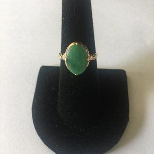 Jewelry - 14K Solid Gold Jade Rind 1920's Antique